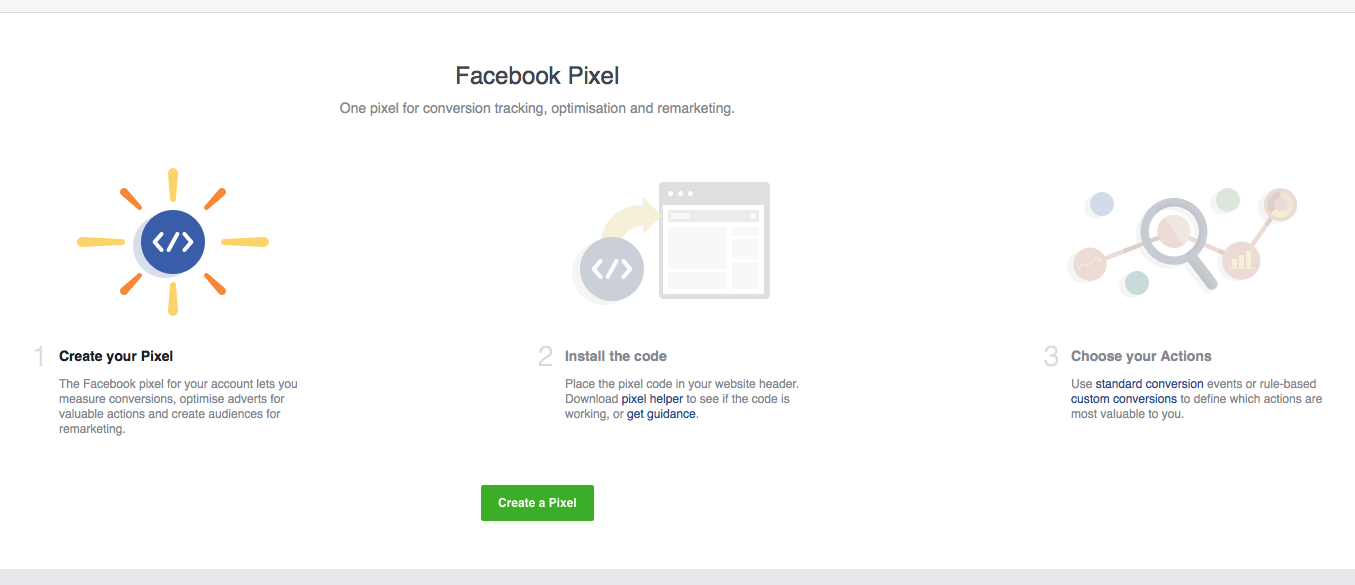 how to create the Facebook pixel new pixel