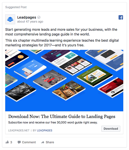 lead magnet ad examples
