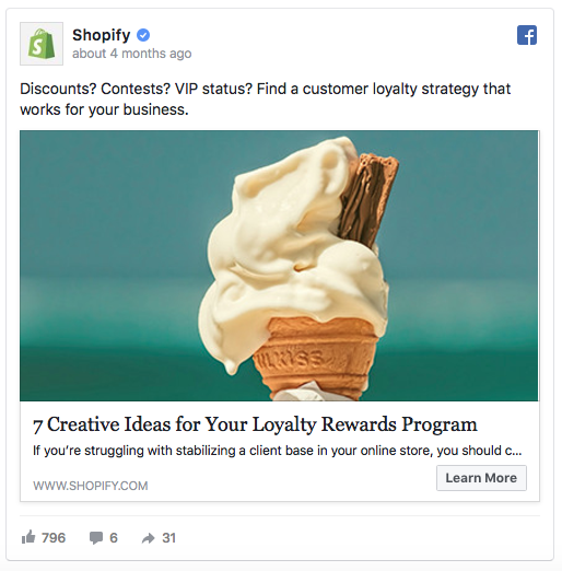 Shopify Ad Examples