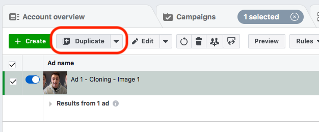 Offer Refresh Ad Duplication Facebook Ad Fatigue