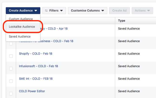 9 Advanced Facebook Advertising Tips - Audience Drop Down