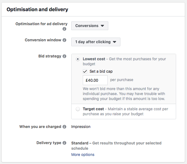 9 Advanced Facebook Advertising Tips Purchase bid example