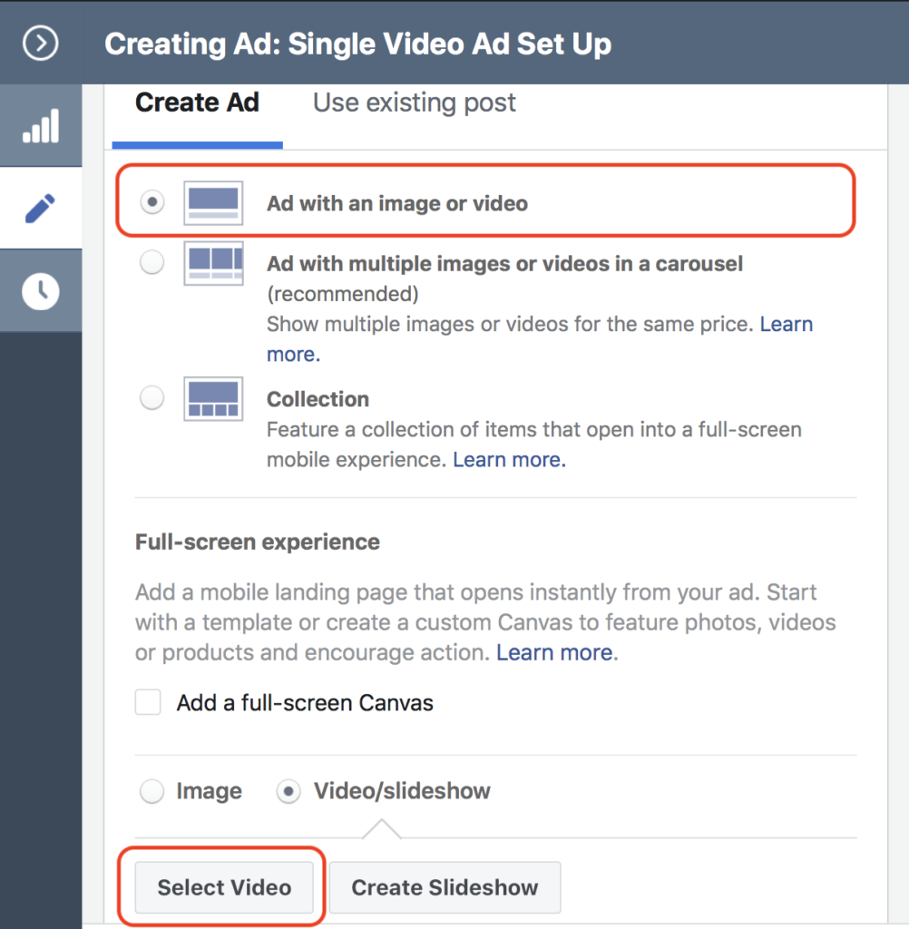 eCommerce single video selection