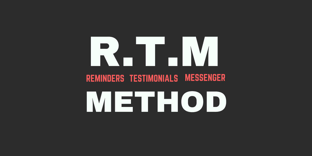 Use Reminder ads from the RTM Method.
