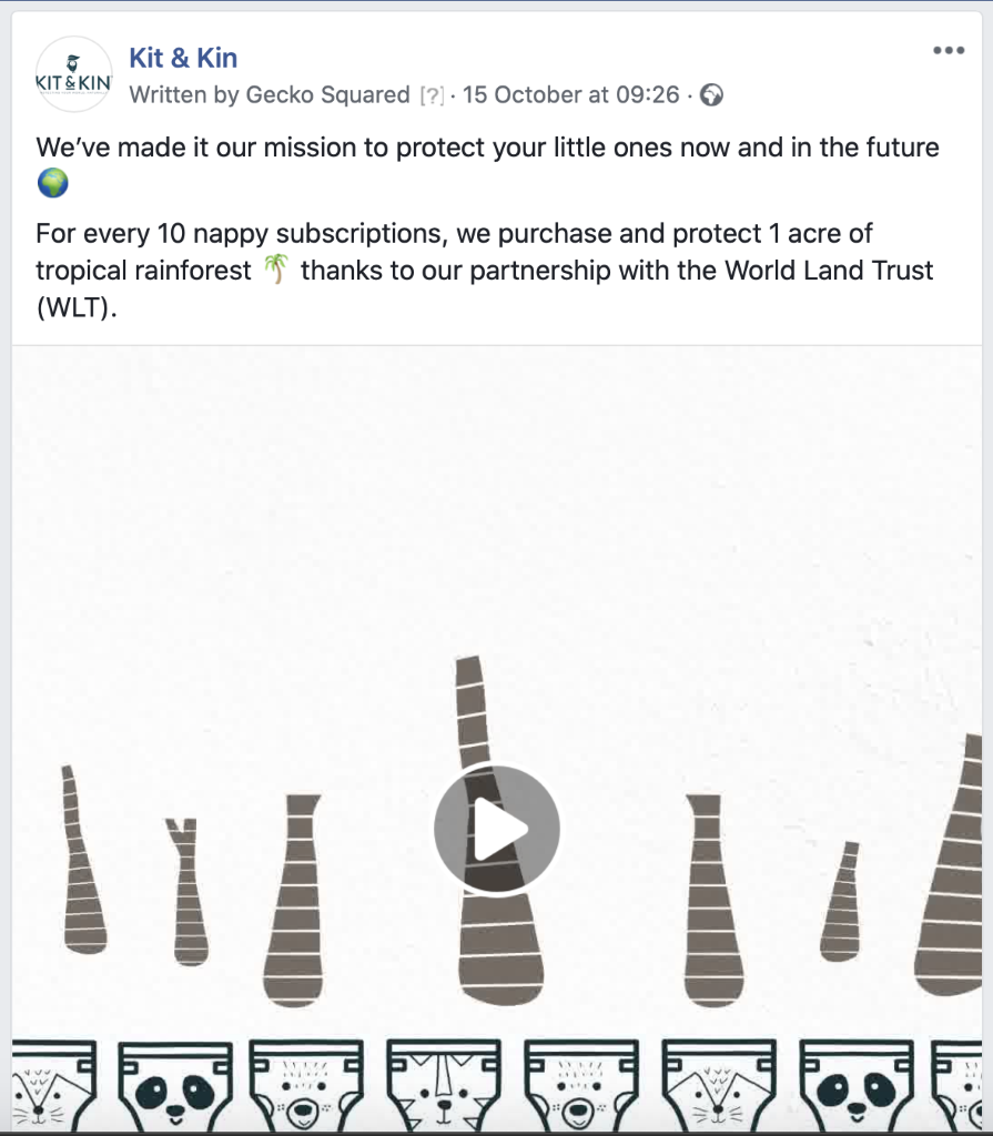 Use a brand story video to simultaneously educate and entertain cold audiences in your Facebook ads.