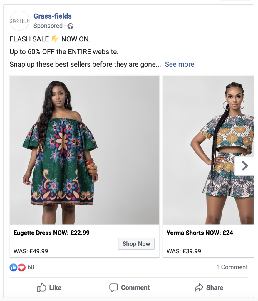 Massively increase your product sales with a Flash Sale Facebook ads campaign.