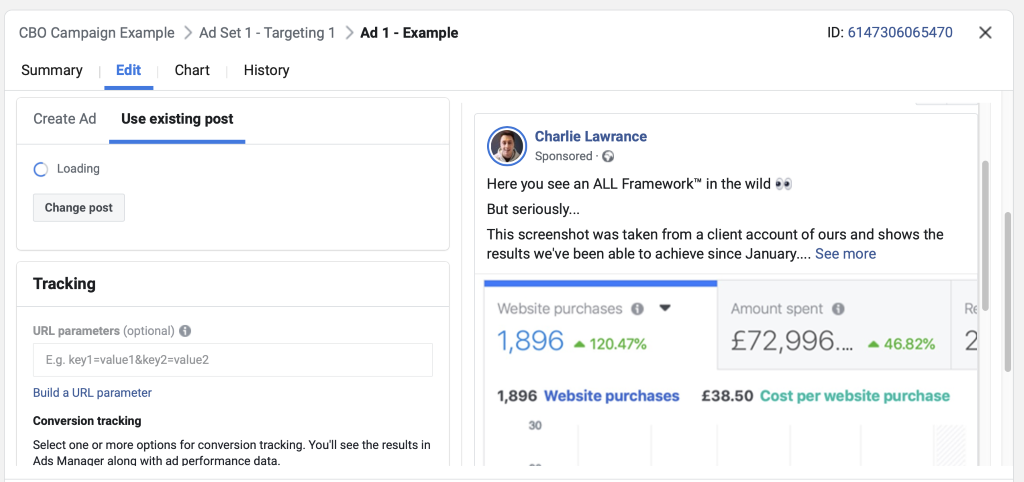 This service-based ad example demonstrates results (proof) and then positions a call to action.
